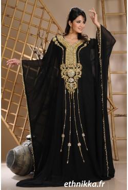 Robe de Dubaï de soirée papillon
