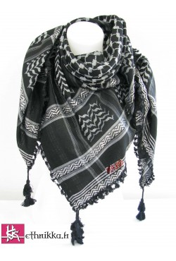 Keffieh noir et gris à petit prix