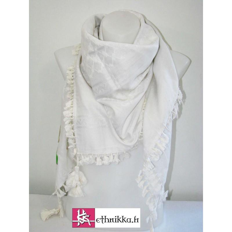 Acheter keffieh blanc foulard pas cher c6166062f77