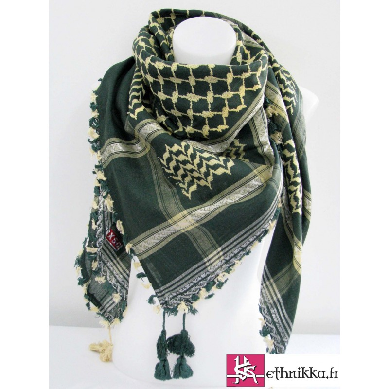 Acheter Keffieh vert et beige - écharpe palestine 57ad5e7eab1