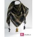 Keffieh noir kaki foulard palestinien