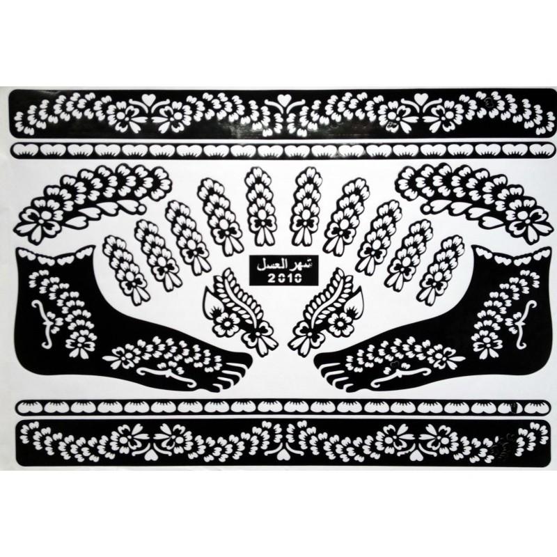 Acheter pochoirs pour tatouage henn indien mehndi design - Dessin de henne pour les mains ...