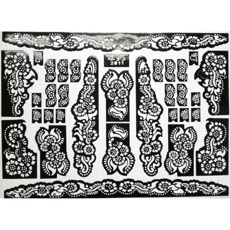 Pochoirs tatouage au henné