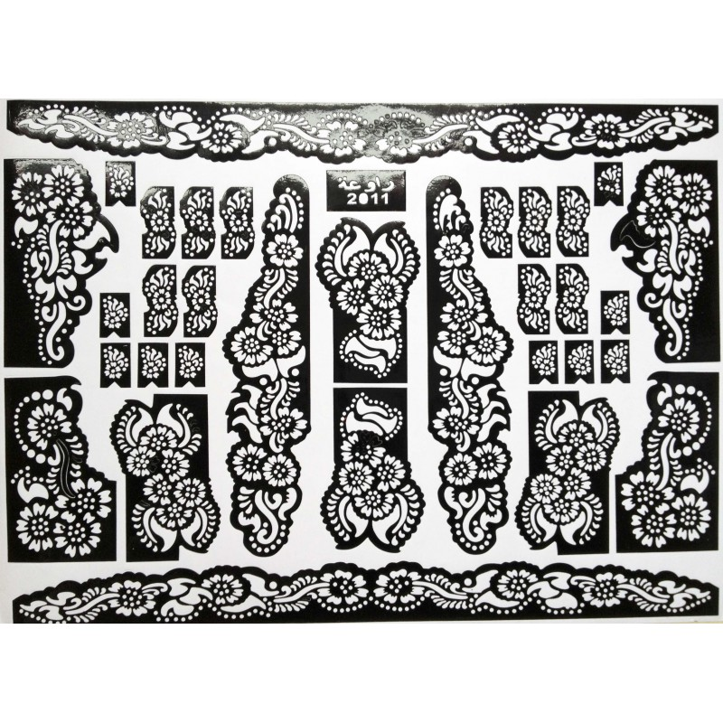 acheter h nn pochoirs mehndi design pour tatouage main. Black Bedroom Furniture Sets. Home Design Ideas