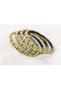 Bijoux bracelets indien bangles cristal pierres vertes