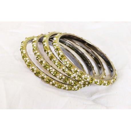 Bijoux bracelets cristal pierres vertes swarovski
