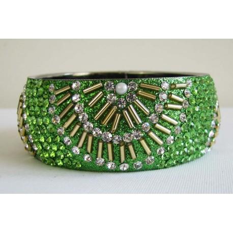 Bracelet indien paillette et pierres