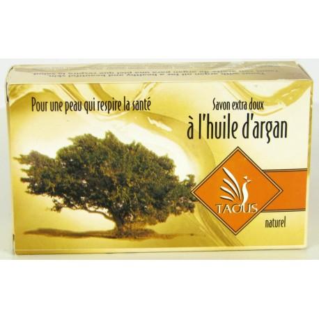 Savon doux à l'huile d'argan naturelle pour la peau Taous