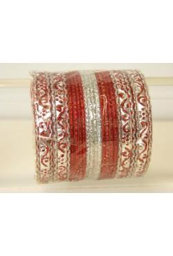 Bracelets d'Inde bangles argenté
