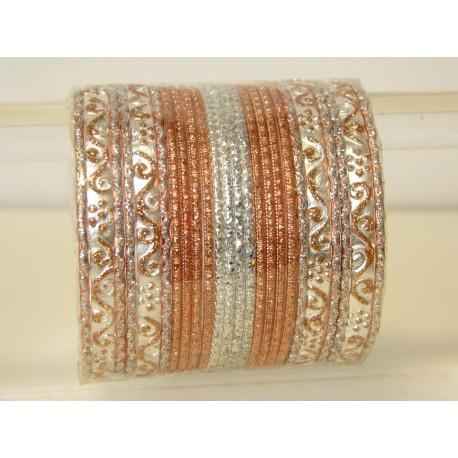 Bracelets indien bangles argenté