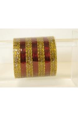 Bracelet indien bangles doré pas cher