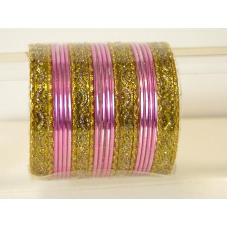 Bracelets indien bangles doré pas cher