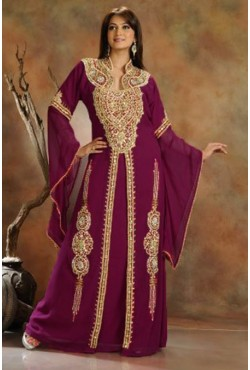 Robe Dubaï violette