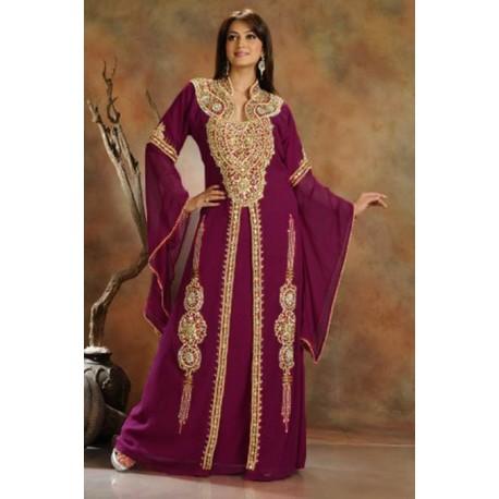 Robe de Dubaï violet