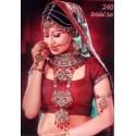 Bijoux indiens tradition parure de mariage rouge
