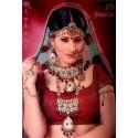 Ensemble de mariage indien rouge et verte