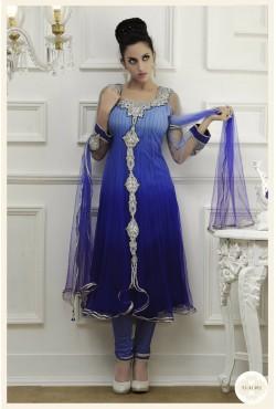 Salwar kameez - Tunique brodée avec une étole et un pantalon