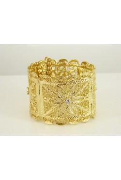 Bijou oriental bracelet jonc en plaqué or filigrane