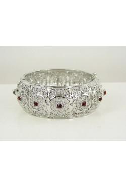 Bijou oriental bracelet en argent plaqué avec pierres exceptionnel