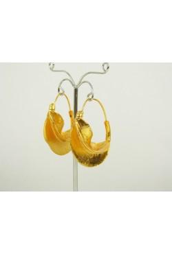 Bijoux créoles orientales pour femme en plaqué or