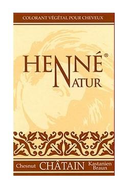Coloration pour des cheveux chatain soins au Henné