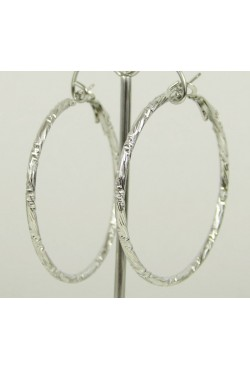 Boucles d'oreilles créoles en argent plaqué
