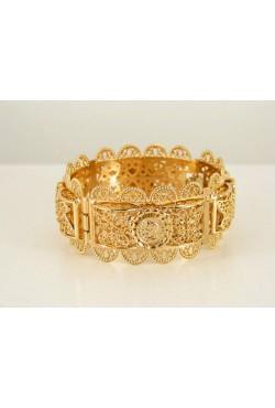 Bijoux berbères bracelet pièces Napoléon et papillons en plaqué or