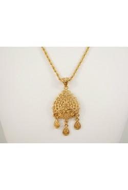Collier sautoir et pendentif khalb bijoux orientaux