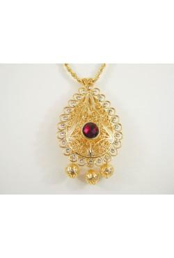 Bijoux berbères collier torsadé et pendentif