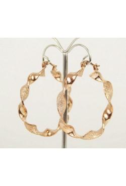 Boucles d'oreilles orientales créoles bijoux en plaqué or