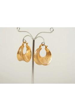 Bijoux orientaux dit créoles orientales en plaqué or