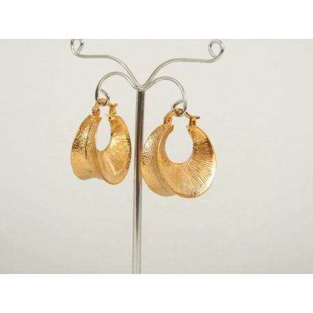Bijoux dit créoles orientales pas cher en plaqué or