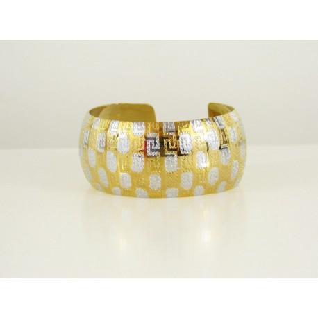 Bracelet africains en acier et or plaqué avec motif en filigrane