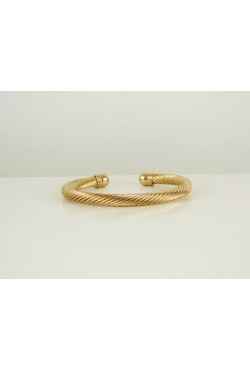 Bracelet africain torsadé en plaqué or bijou oriental