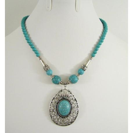 Collier avec népal pierre de Turquoise