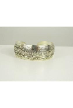 Bracelet argent Tibetain en filigrane