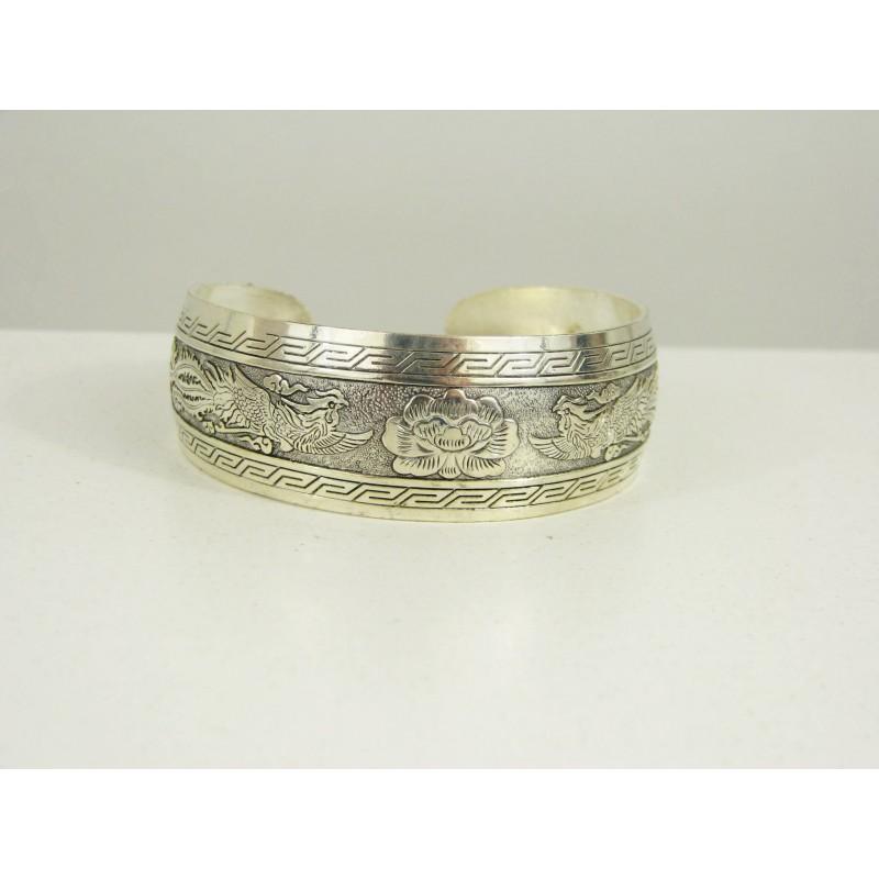 Bijoux Argent Filigrane : Bracelet bijoux argent tibet en filigrane