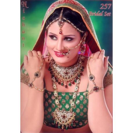 Bijoux indiens ensemble de mariage blanche