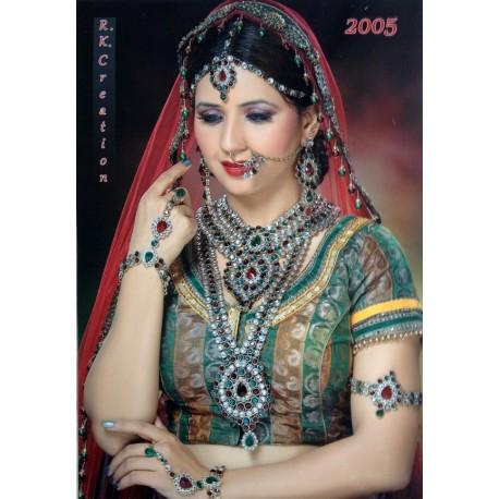 Ensemble bijoux indiens mariage rouge et perles