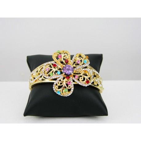Bracelet fleur en plaqué or bijou oriental