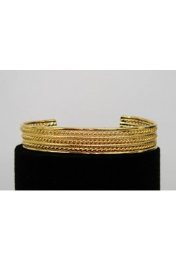 Bracelet africain torsadé en plaqué or