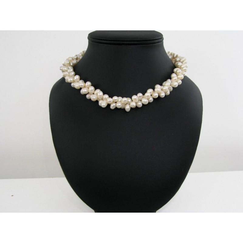 acheter collier perles de culture d 39 eau douce pas cher collier ras de cou. Black Bedroom Furniture Sets. Home Design Ideas