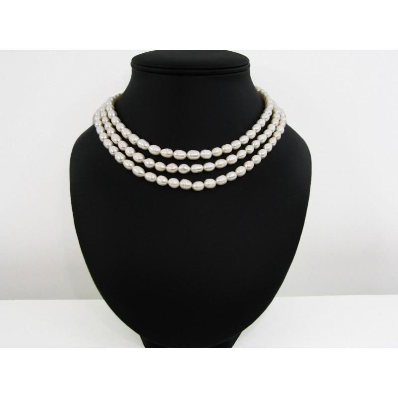 collier perle culture 3 rangs