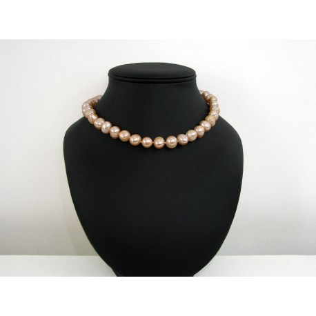 Collier perles de culture blanche ras de cou
