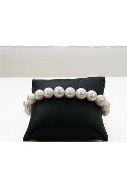 Bracelet en perles de culture blanc