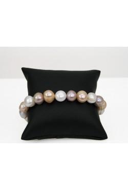 Bracelet en perles de culture multicolor