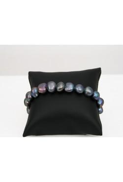 Bracelet en perles de culture noires