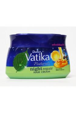 DABUR VATIKA - Masque capillaire crème de nuit cheveux réparatrice à l'huile de ricin, miel et amandes
