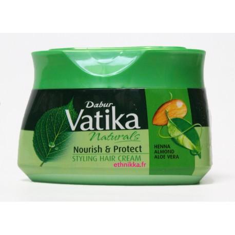 Masque nourrissant soins cheveux au henné, huile d'amande et d'aloe vera - DABUR VATIKA