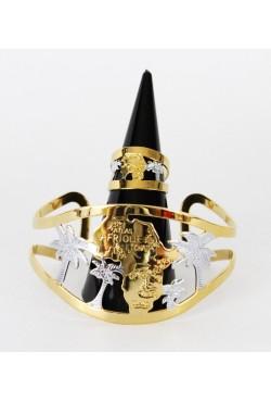 Bracelet Africain et bague en or plaqué et argenté carte du continent